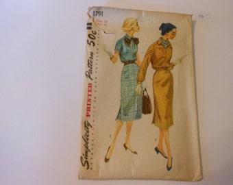 Vintage 50's Simplicity Pattern 1791