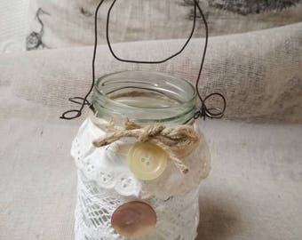 Handmade glass lantern in the shape of a bridesmaid