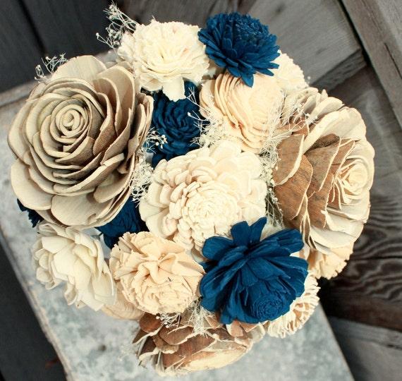 Sola flower bouquet brides wedding bouquet champagne and
