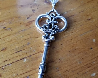 Crown Key Necklace
