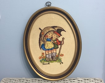 Hummel Embroidered Wall Hangings Set of 3