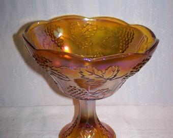 Carnival Glass Fruit Bowl