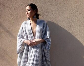 Striped Linen Kaftan