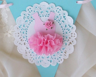 Ballerina Tutu Banner Birthday Decoration