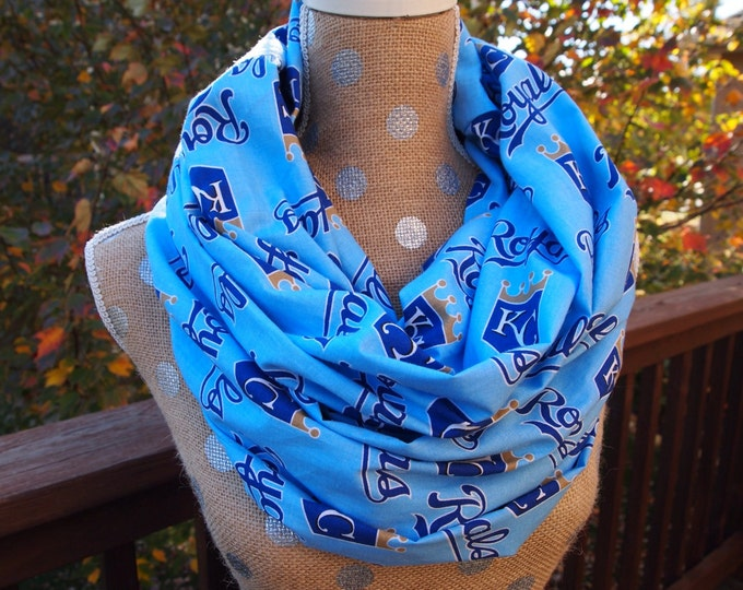Featured listing image: Kansas City Royals MLB Adult Infinity Scarf 10x70 Double Loop Free Shipping