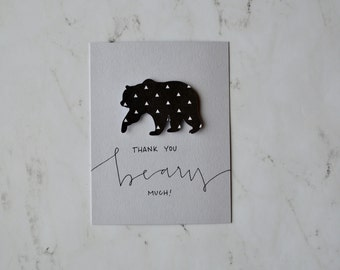 """Thank You """"Beary"""" Much Card"""