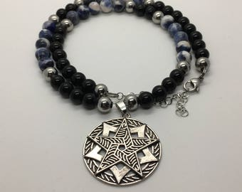 Pentacle with Sodalite