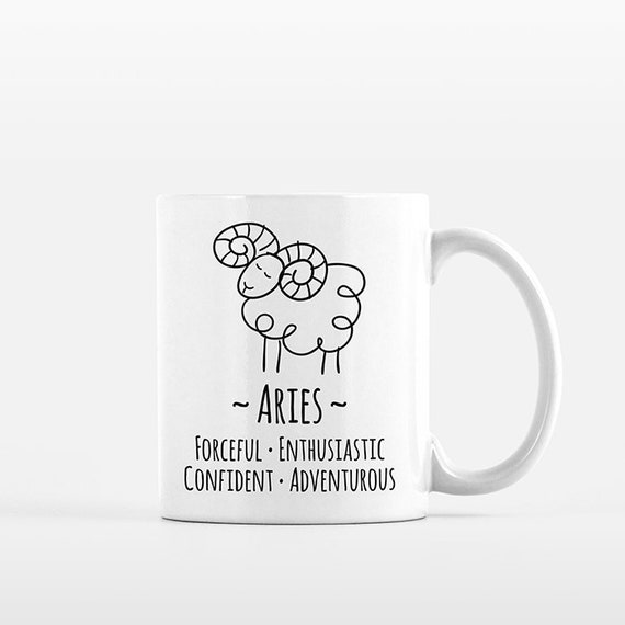 Aries Mug Aries Gift for Him Aries Zodiac Gift for Her Zodiac Mug Zodiac Sign Gift Horoscope Gift Astrology Gift Aries Coffee Mug