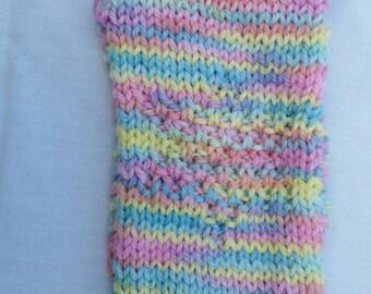 Handknit merino headband with star pattern detail, earwarmer.