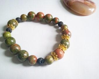 Welcome spring - unakite bracelet