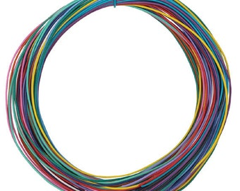 plastic covered wire- asst colors