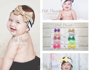 Bow baby head wrap, Top knot, Big bow headwrap, baby headband, turban headband, floppy bow headband, big bow headband,Top knot headband
