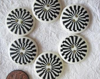 Graphic Buttons 21 mm. set 1 - 20 pcs