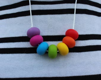 Silicone Necklace - Rainbow