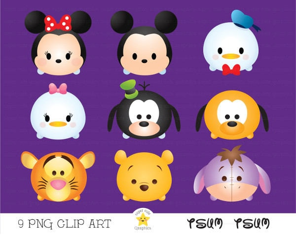 Disney Tsum Tsum Clipart 9: Tsum Tsum Clipart Tsum Tsum Graphics Disney Tsum Tsum