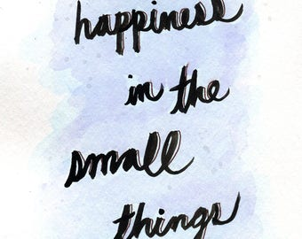 Happiness in the Small Things - Downloadable Art Zine