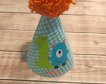 Little Monster First Birthday Party Hat Personalized