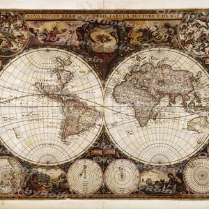 Vintage world map etsy vintage old world mapimage download retro style designresource old map digital prints gumiabroncs Image collections