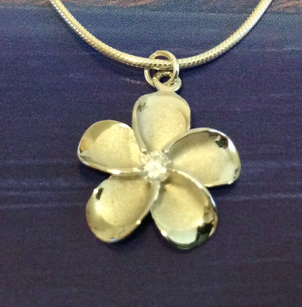 multiple in hawaii anklet plumeria cz color with sparkle