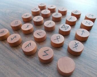 Runes, Runic alphabet, Wooden Runes, Magical runes, Runic set, Christmas gift idea