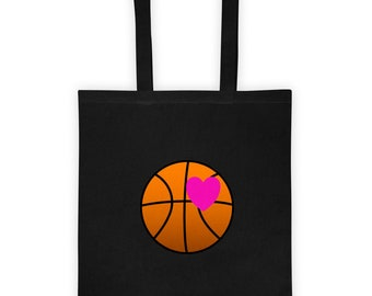 Basketball Love Canvas Tote Bag