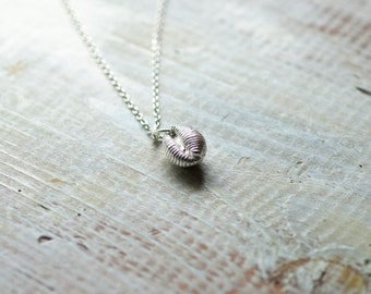 Cowrie Necklace, Silver Cowrie Necklace, Shell Necklace, Silver Shell Necklace