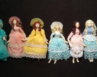 Miniature Dollhouse Dolls - 6 to 7cm