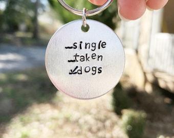 Dog Lover Keychain - Dog Owner Gift -Dog Owner Accessory - Dog Gift - Dog Keychain - Single Taken Dogs - Dog Lover Gift