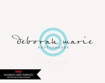 Photography logo design - Watermark logo - lens logo. Logo template - digital download psd file