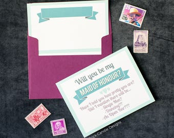 Have I Told You How Pretty You Are Will You Be My Maid of Honour Card | Will You Be My Greeting Card | How to Ask Maid of Honor | Bridezilla