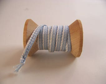 small inkle woven band//blue//white//woven bookmark//