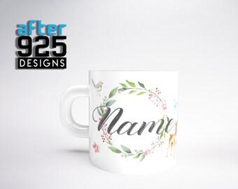 """Personalised """"Deer"""" Coffee / Tea Mug"""