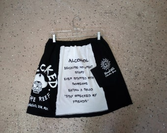 Rocky Point Beach Bars upcycled skirt from t-shirts.