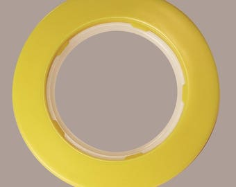 Set of 10 eyelet curtain Ø50 mm - yellow