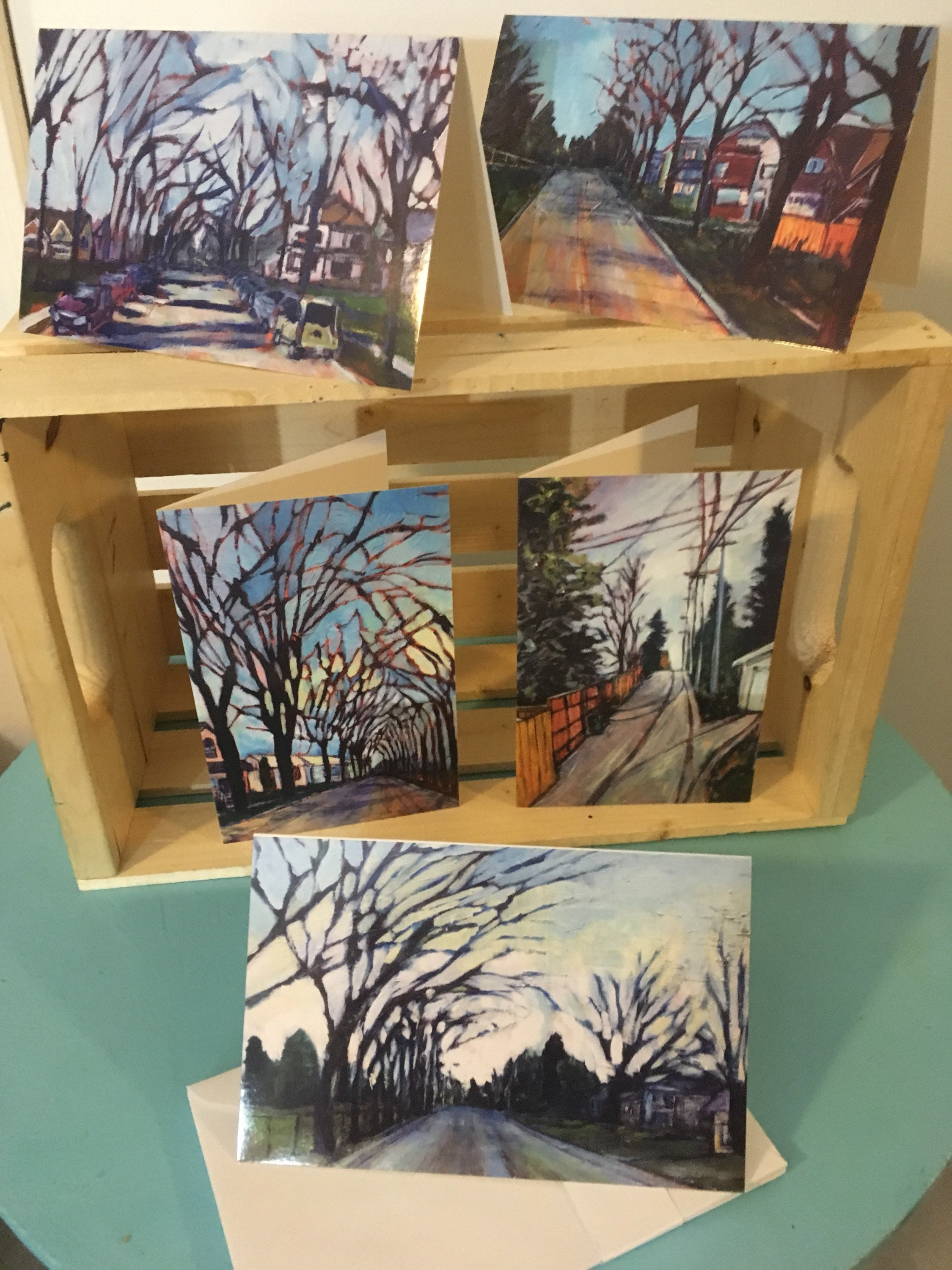 5 5x7 Inch Art Cards Blank Greeting Cards W Envelopes