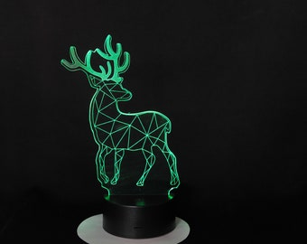 Lamp 3D pattern: deer