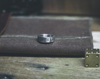 The Mountains Are Calling - Travel Quote Ring