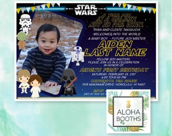 Star Wars Printable Birthday Invitation 5x7