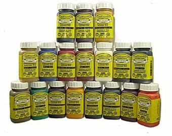 Zeli Pro Waterbased Leather Pigment Dye 4oz with Sponge Brush - 22 colors