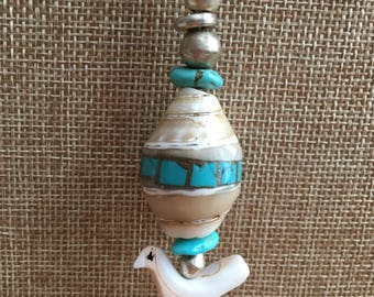 Turquoise & Shell Totem Necklace