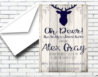 Oh Deer! Baby Shower Invitation Digital Download