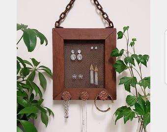 Rustic Jewellery Organiser / Jewellery Hanger / Frame Jewellery Organiser