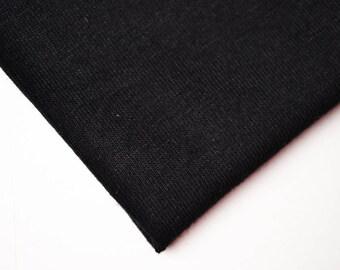 Fabric Jersey black | Per Metre