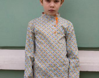 Russian shirt Kosovorotka boy, boho shirt Russian clothing Slavic shirt Russian costume traditional folk peasant shirt Russia hippie clothes