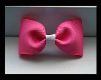 Cute Pink and White Hair-bow