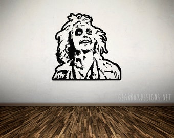Beetlejuice Vinyl Decal Wall Art.