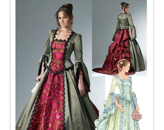 McCalls Pattern 6097-Steampunk Victorian Bustle Dress Size 6-12