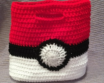 Pokémon Poke-ball Crochet Lunch Tote