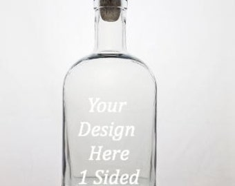 Personalized Whiskey Decanter - Custom Whiskey Decanter - Etched Decanter - Personalized Gift - Scotch Decanter - Groomsmen Gift - 1 side