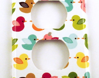 Light Switch Cover Wall Plates Switchplate Outlet in  Lucky Ducky (216O)